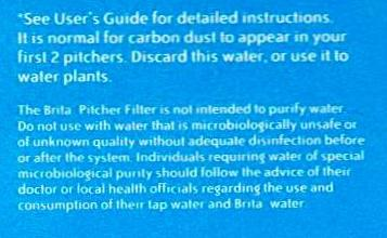 Brita Filter Disclaimer Details Is a Brita Filter effective? photo