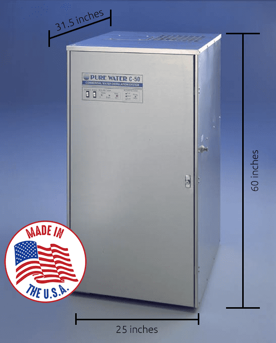 C50 commercial water distiller made in the usa
