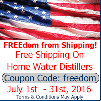 free shipping on home water distillers