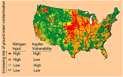Nitrates In Ground Water in the United States