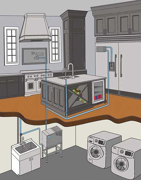automatic water distiller installation