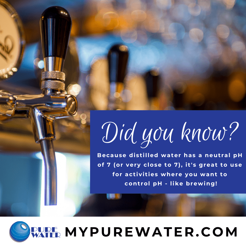Did you know that distilled water's neutral pH helps keep beer brewing flavors consistent?