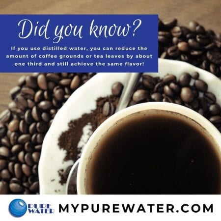 coffee and distilled water