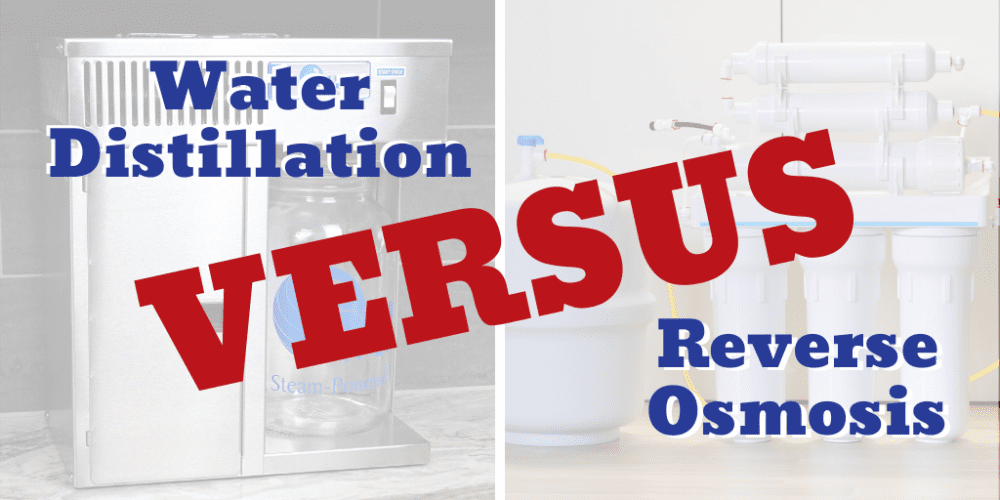 Water Distillation versus Reverse Osmosis