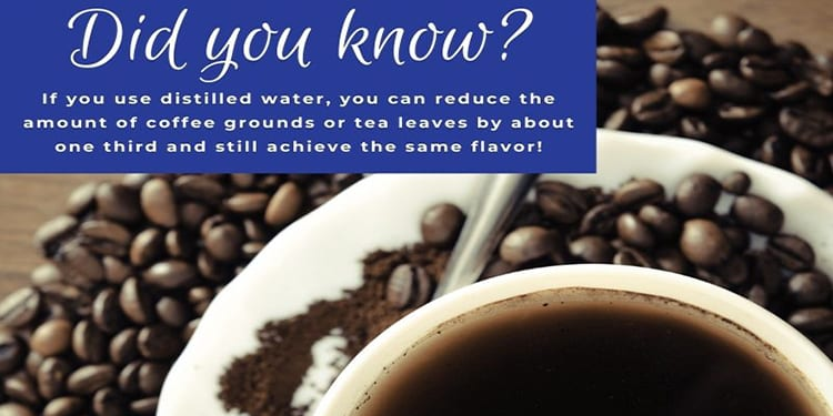 distilled water for coffee