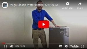 mega classic water distiller video